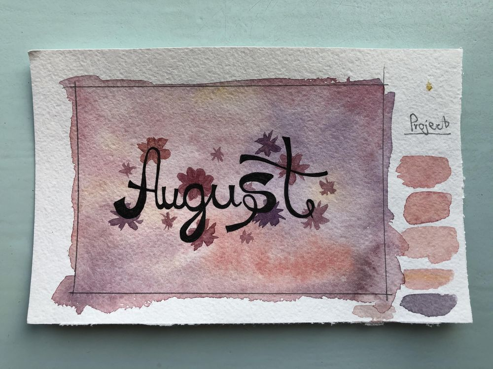 Watercolor background - image 4 - student project