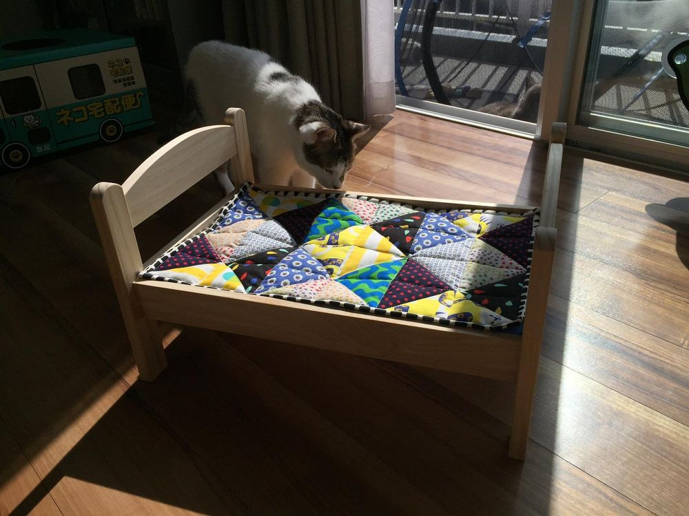 Cat Bed Quilt - image 3 - student project
