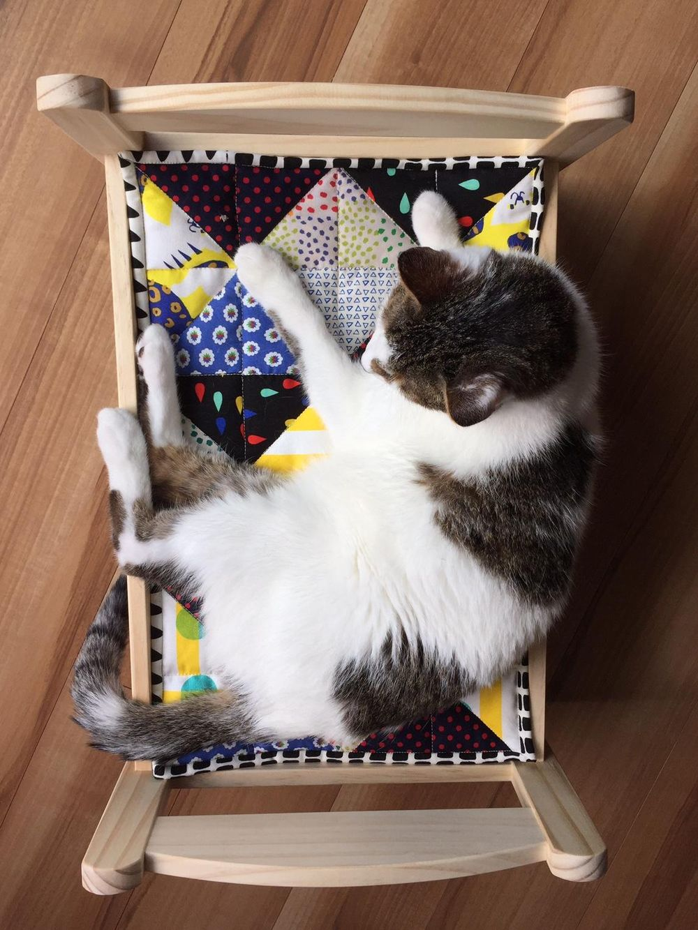 Cat Bed Quilt - image 5 - student project