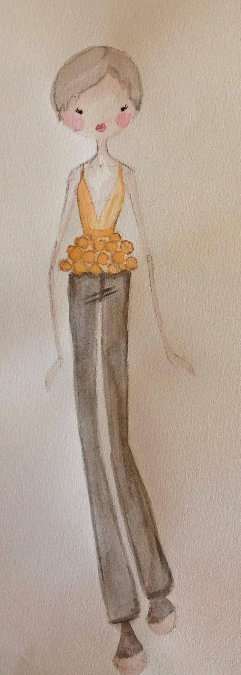 {1st WATERCOLORED} Illustrated Couture - image 3 - student project