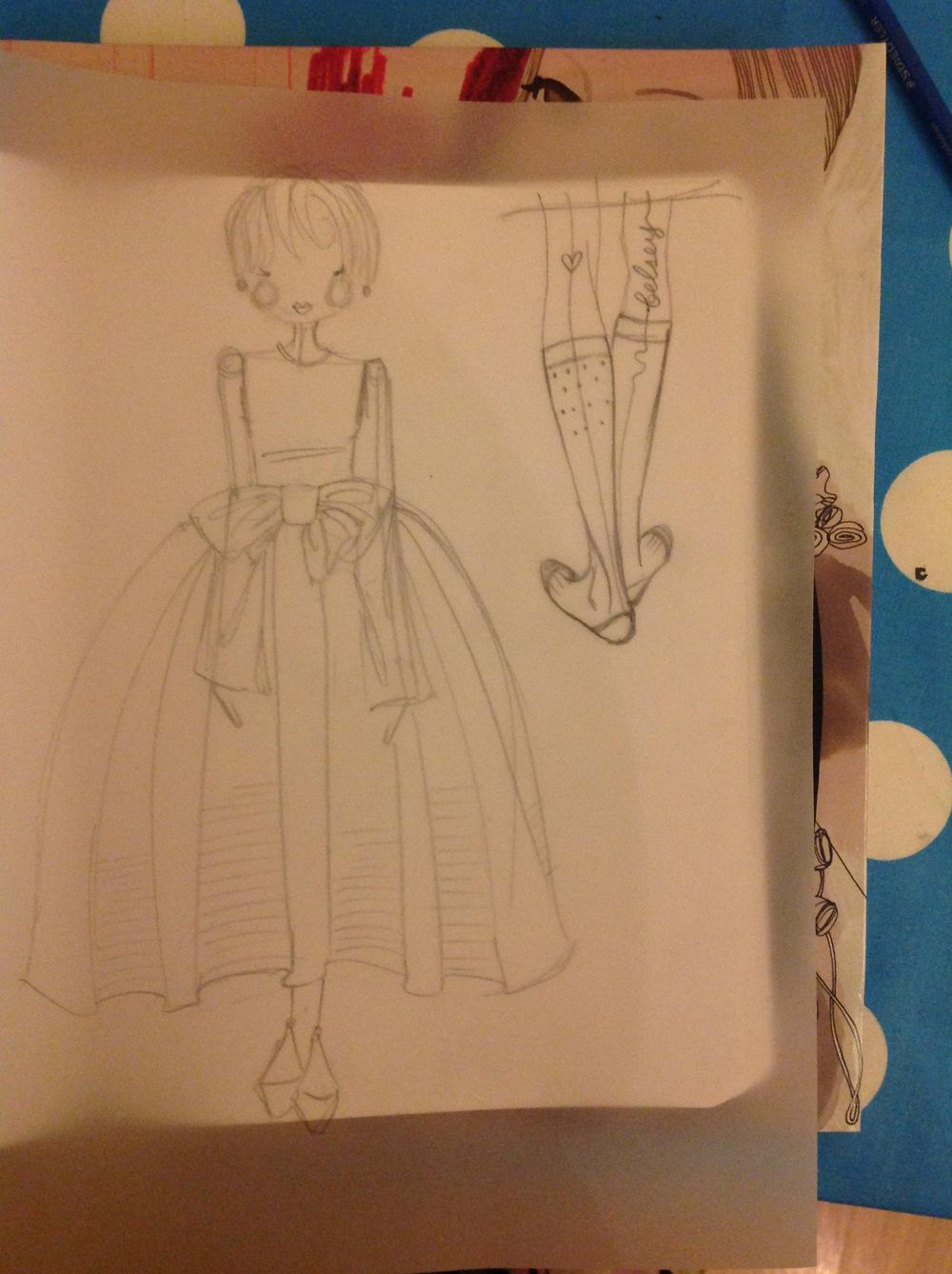 {1st WATERCOLORED} Illustrated Couture - image 8 - student project