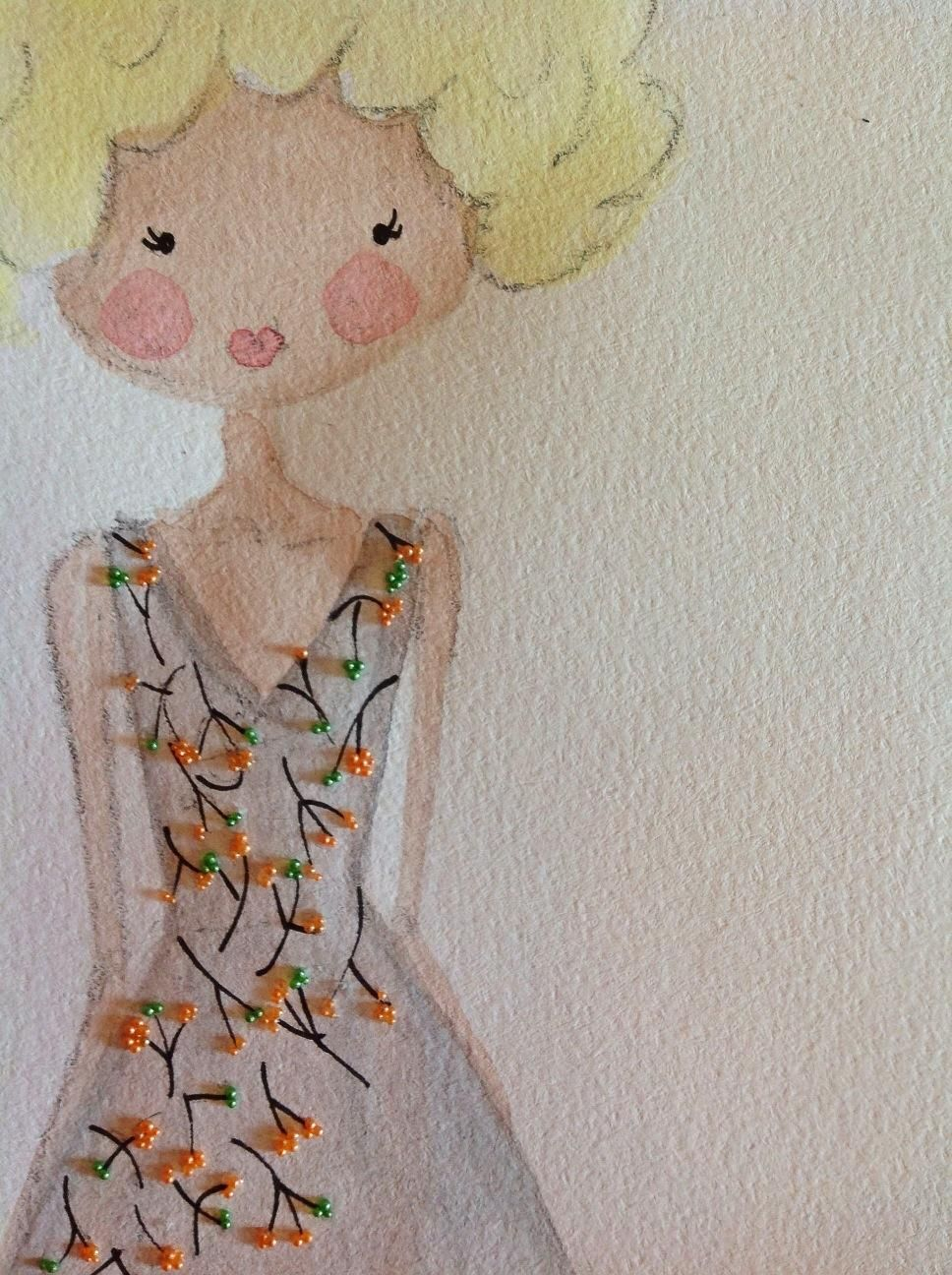{1st WATERCOLORED} Illustrated Couture - image 2 - student project