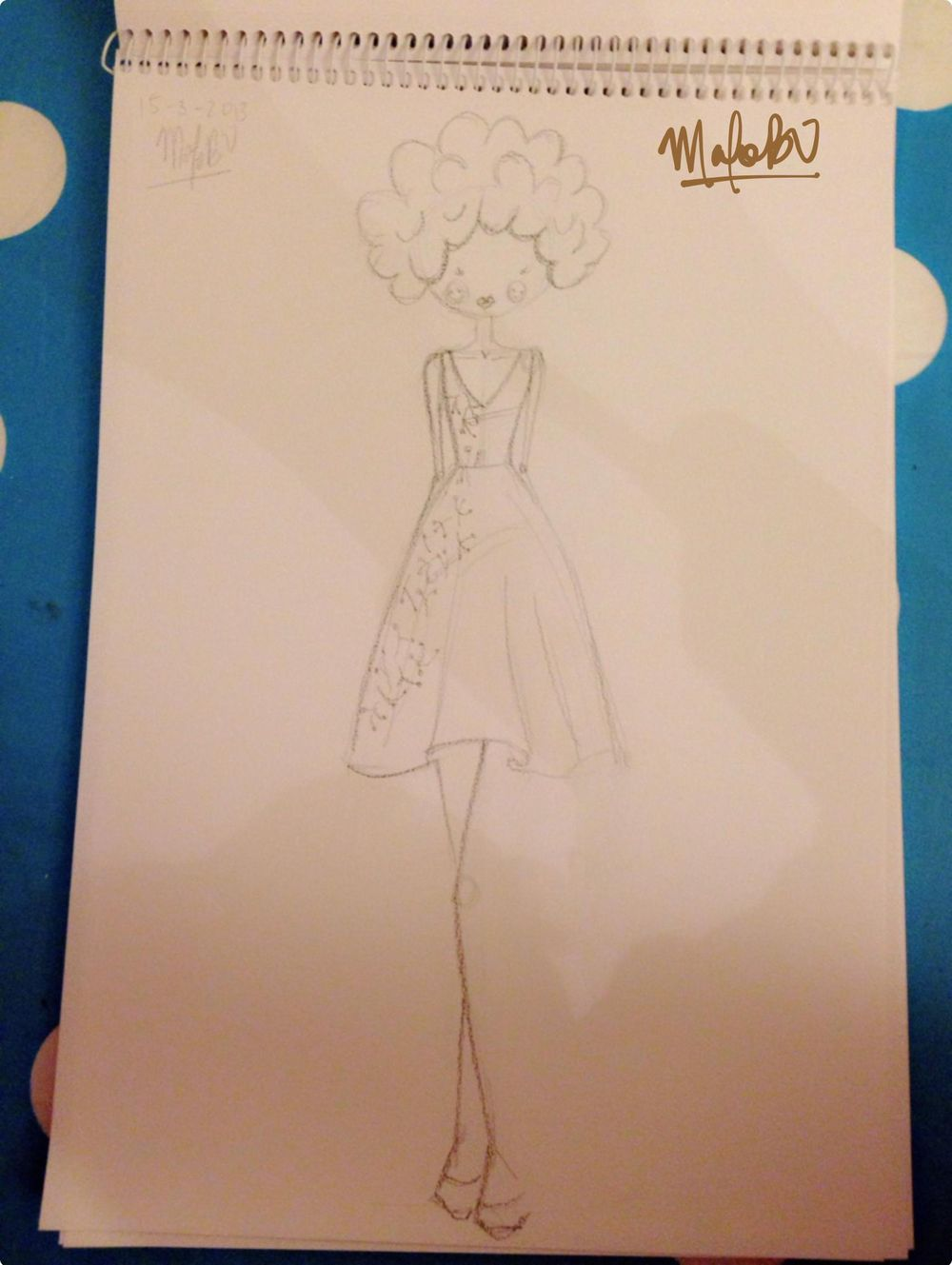 {1st WATERCOLORED} Illustrated Couture - image 19 - student project