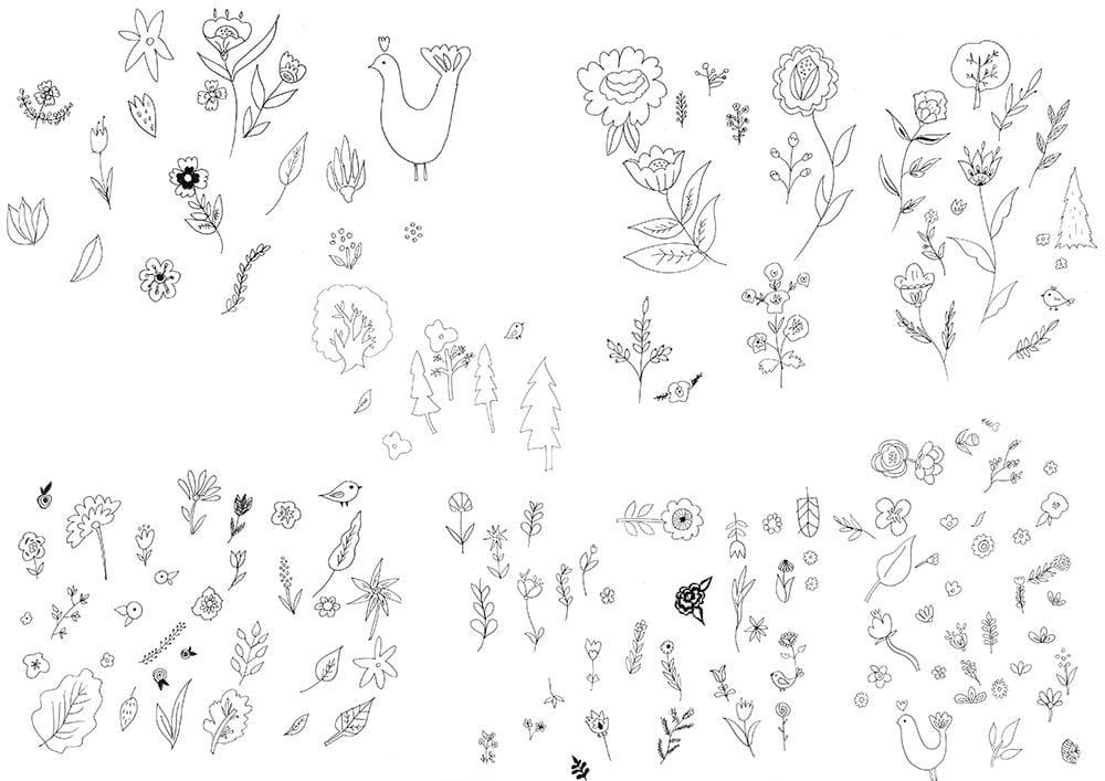 Workshop #1 & #3 Illustrate from Sketches/Designing Focal Prints: Folk Vibes - image 2 - student project