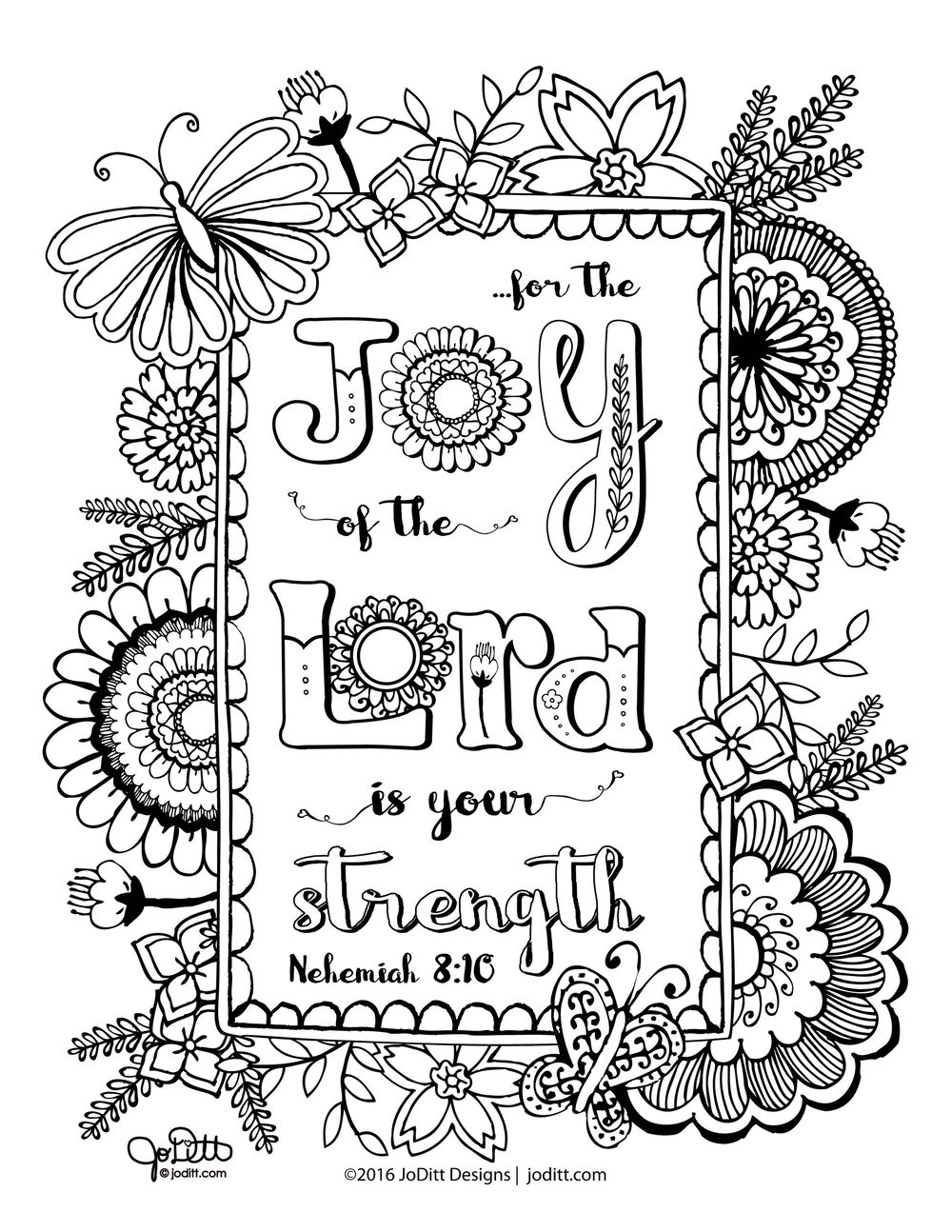 Coloring Book Page - Joy of the Lord - image 1 - student project