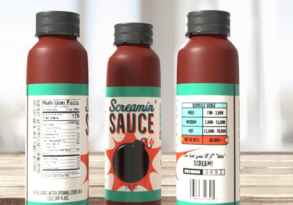 Screaming' Hot Sauce - image 1 - student project