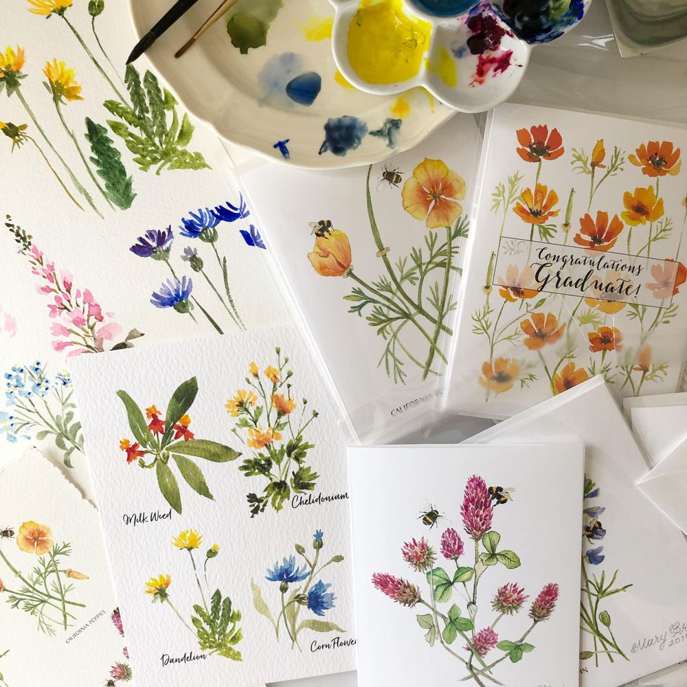 Painting Wildflowers with Sushma - image 1 - student project
