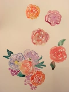 My first watercolor flowers - image 1 - student project