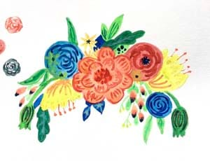 My first watercolor flowers - image 3 - student project