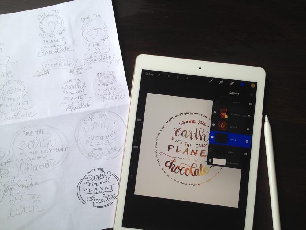 Glued to my iPad & Procreate :-) - image 6 - student project