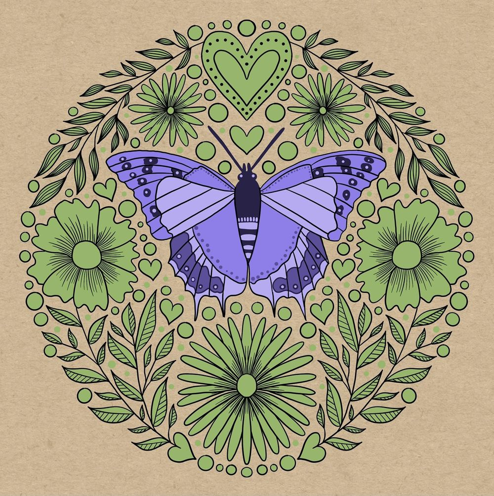 Folk art illustration - image 8 - student project