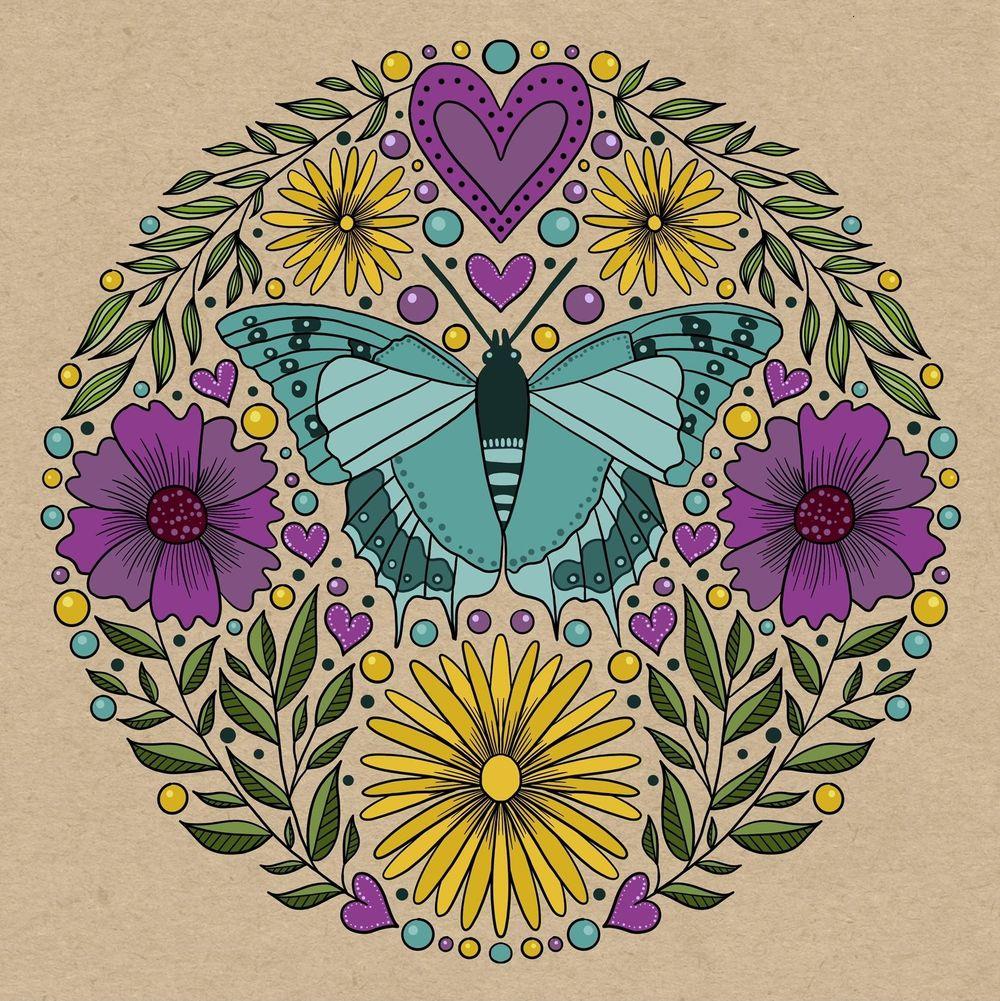 Folk art illustration - image 7 - student project