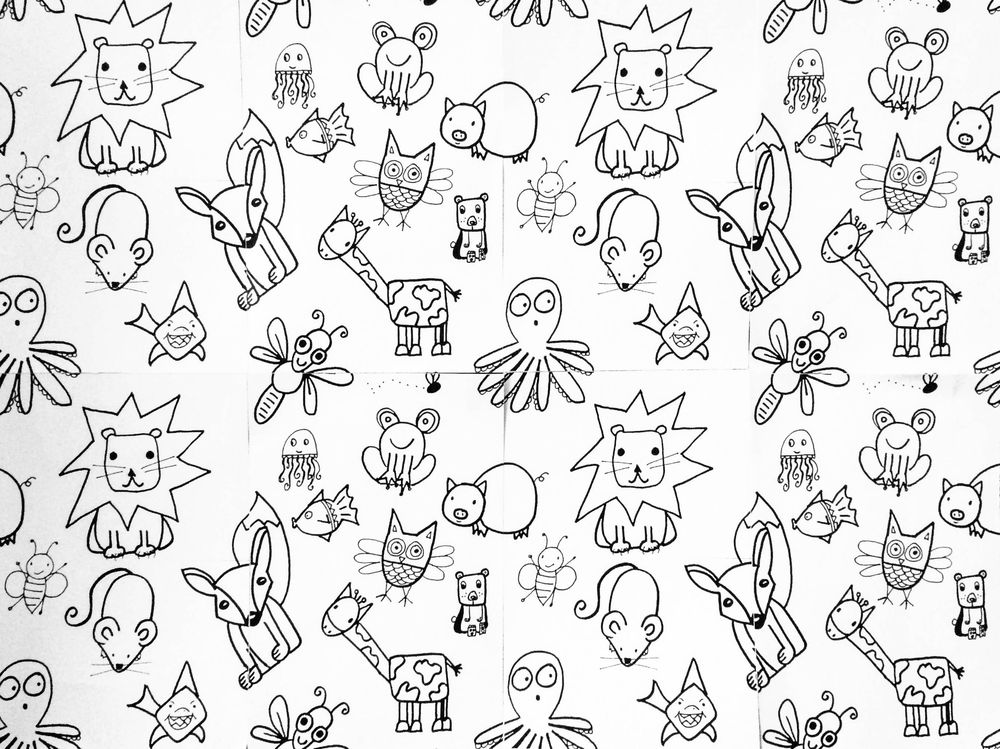 Cute Animal Wallpaper (Animals from Em Winn's Drawing for Kids class) - image 1 - student project