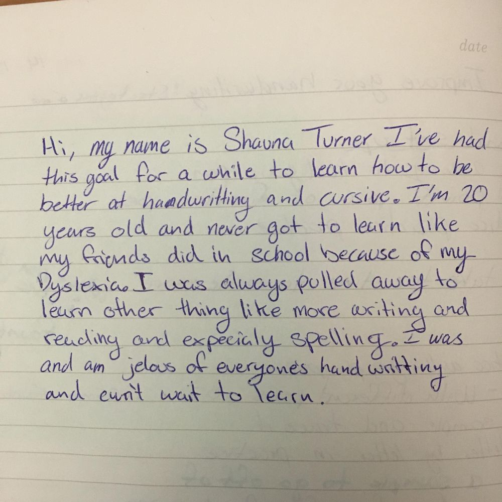 Improving my handwriting - image 1 - student project