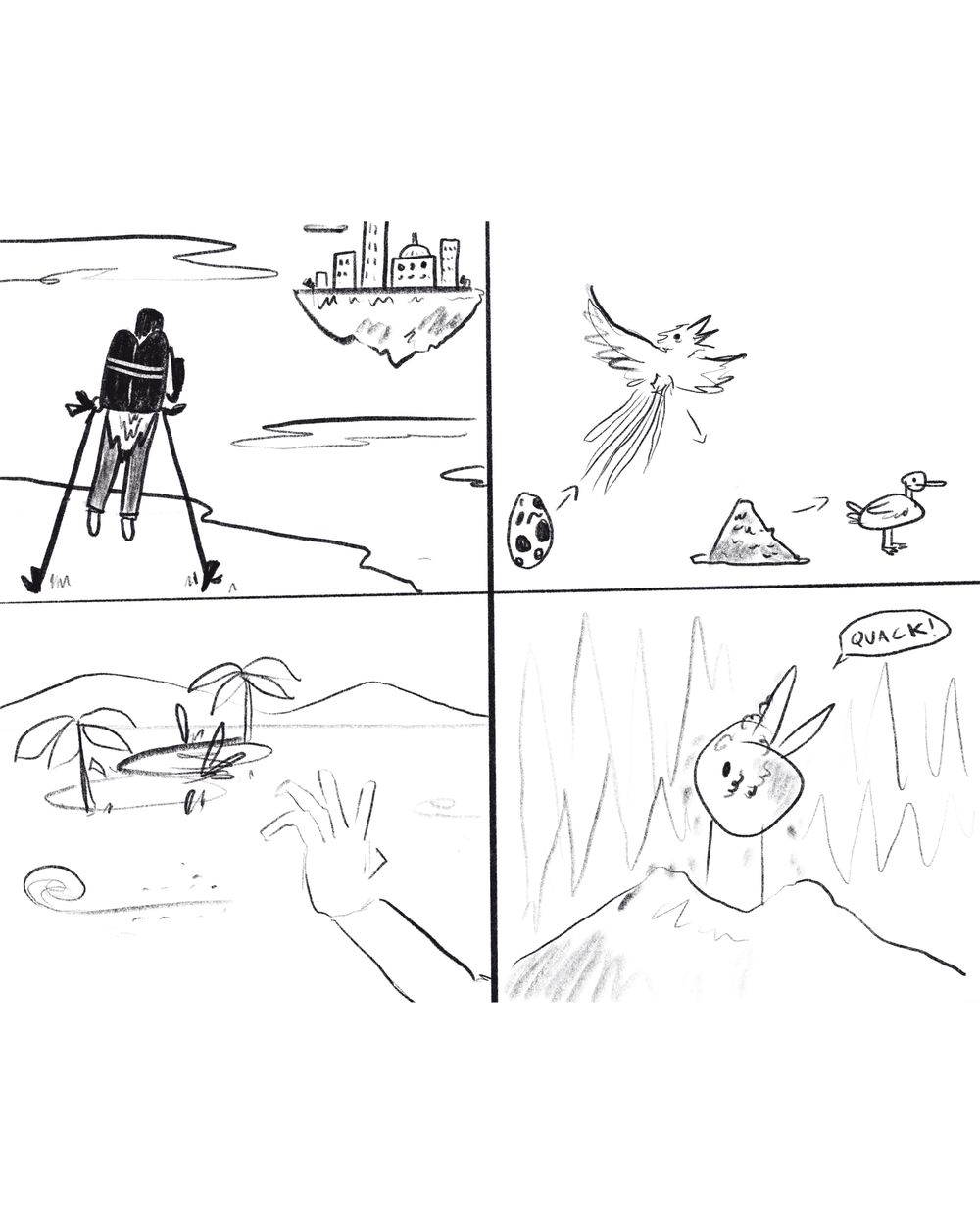 My editorial illustration (with sketches) - image 1 - student project