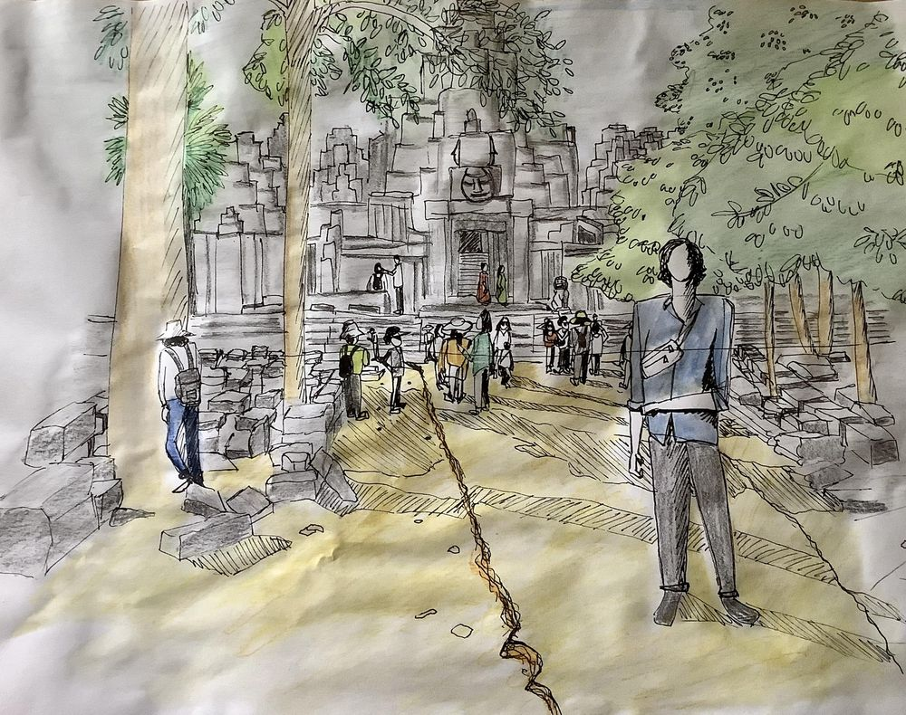 Urban sketching: Drawing people - image 3 - student project