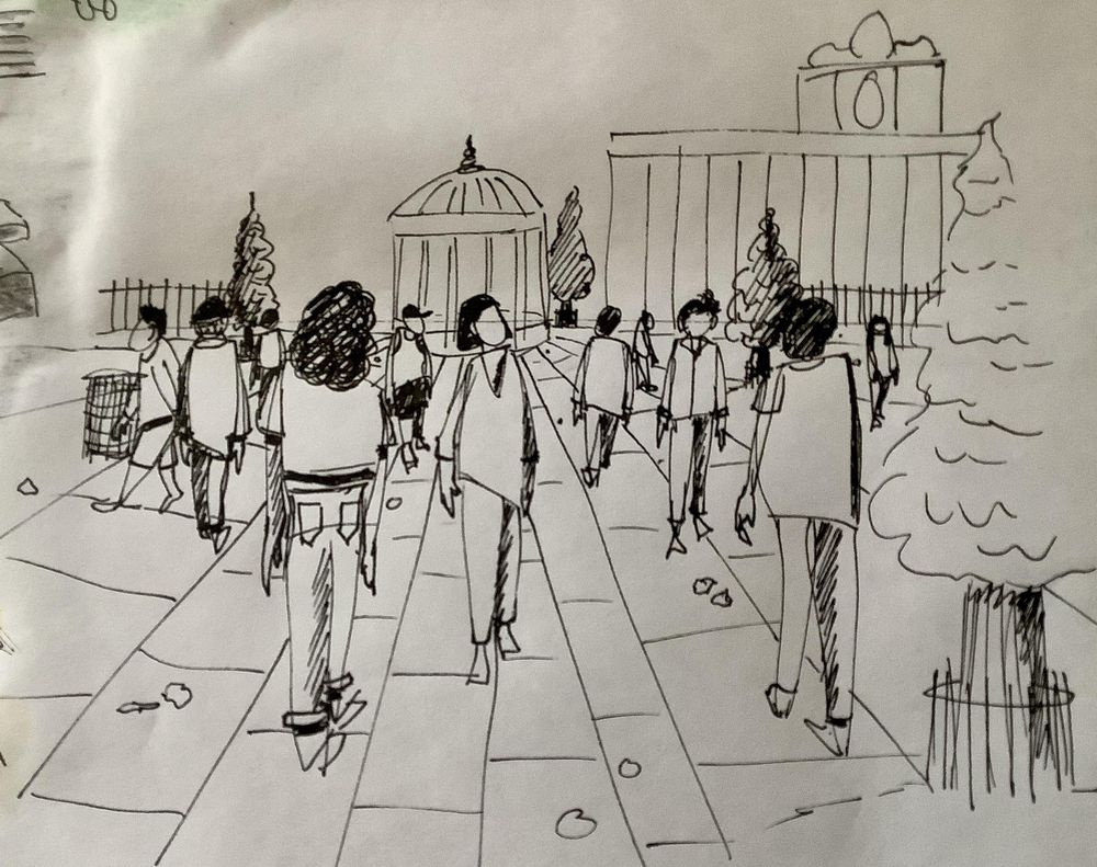 Urban sketching: Drawing people - image 2 - student project