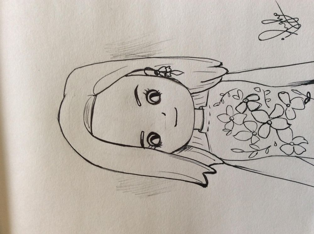 Caricature girl - image 1 - student project