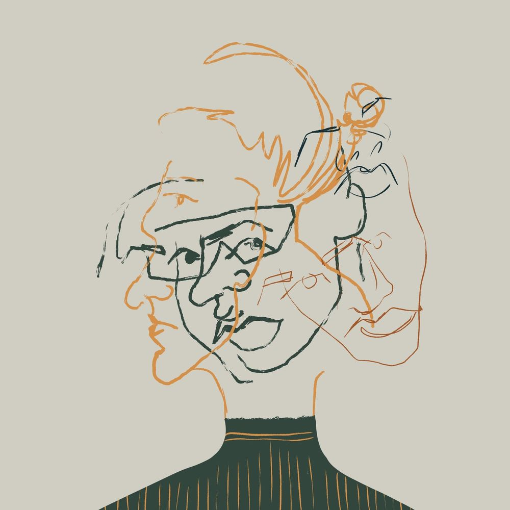 Intuitive illustration - selfportrait - image 1 - student project