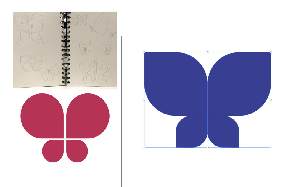 Drawing Butterflies in Illustrator - image 3 - student project