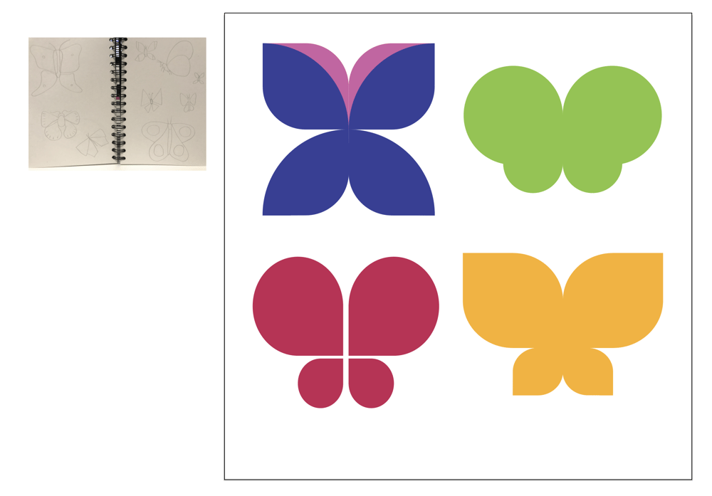 Drawing Butterflies in Illustrator - image 4 - student project