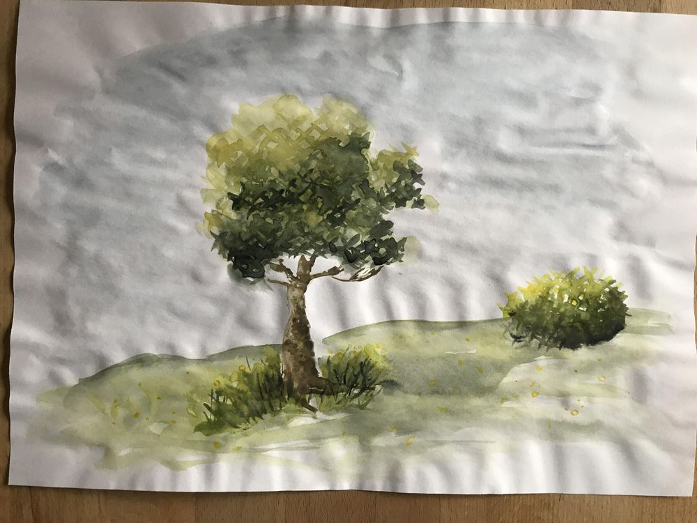 Watercolour trees - image 6 - student project