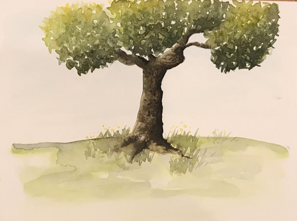 Watercolour trees - image 7 - student project
