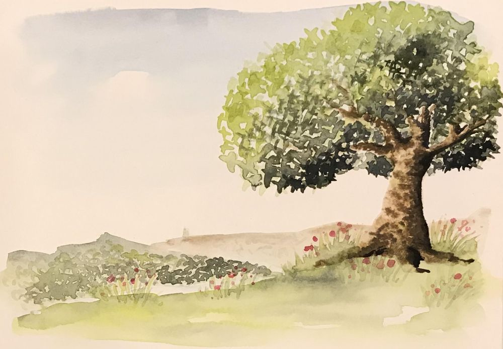 Watercolour trees - image 8 - student project