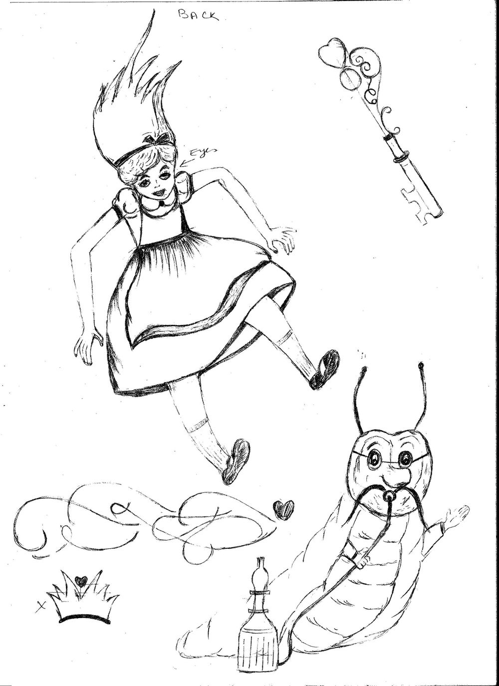 ALICE IN WONDERLAND BOOK COVER PROJECT UPDATED  - image 1 - student project