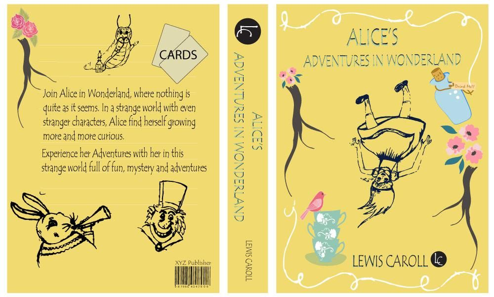 ALICE IN WONDERLAND BOOK COVER PROJECT UPDATED  - image 3 - student project