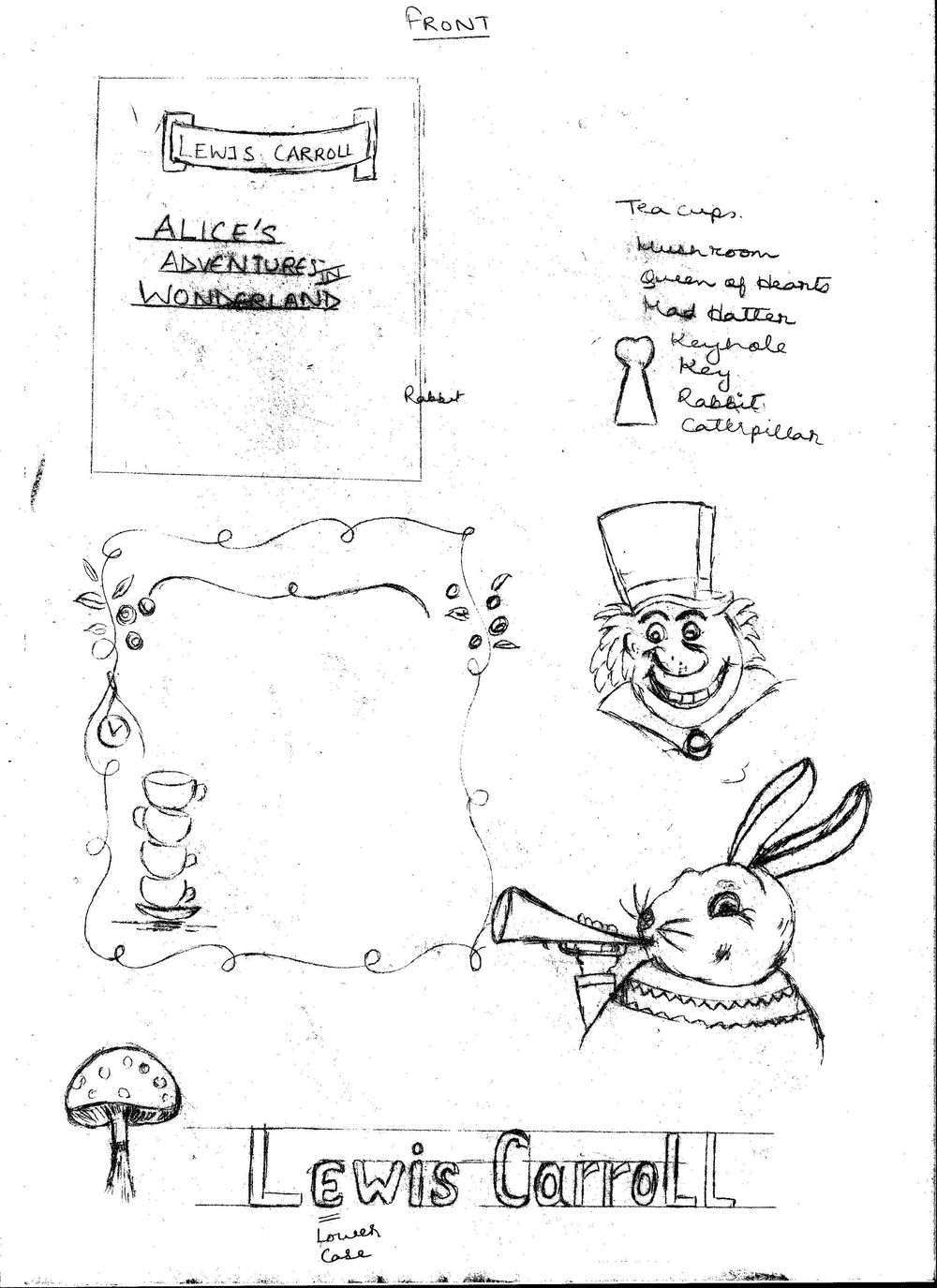 ALICE IN WONDERLAND BOOK COVER PROJECT UPDATED  - image 2 - student project