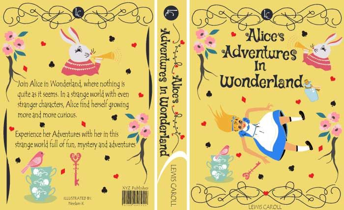 ALICE IN WONDERLAND BOOK COVER PROJECT UPDATED  - image 5 - student project