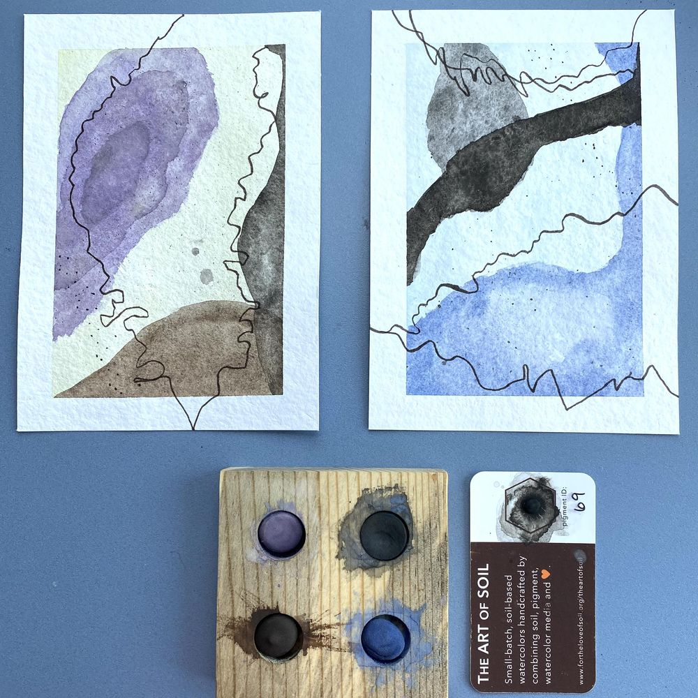 Contours and Lines using Soil-based watercolor - image 1 - student project