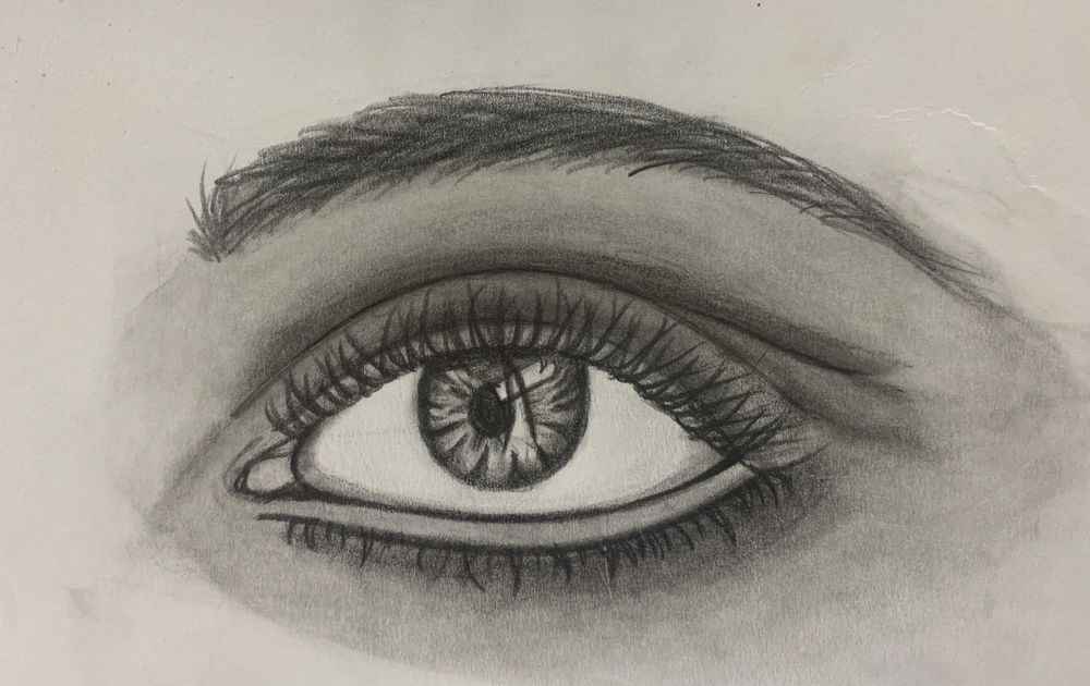 real eye practice with teacher's lesson - image 1 - student project
