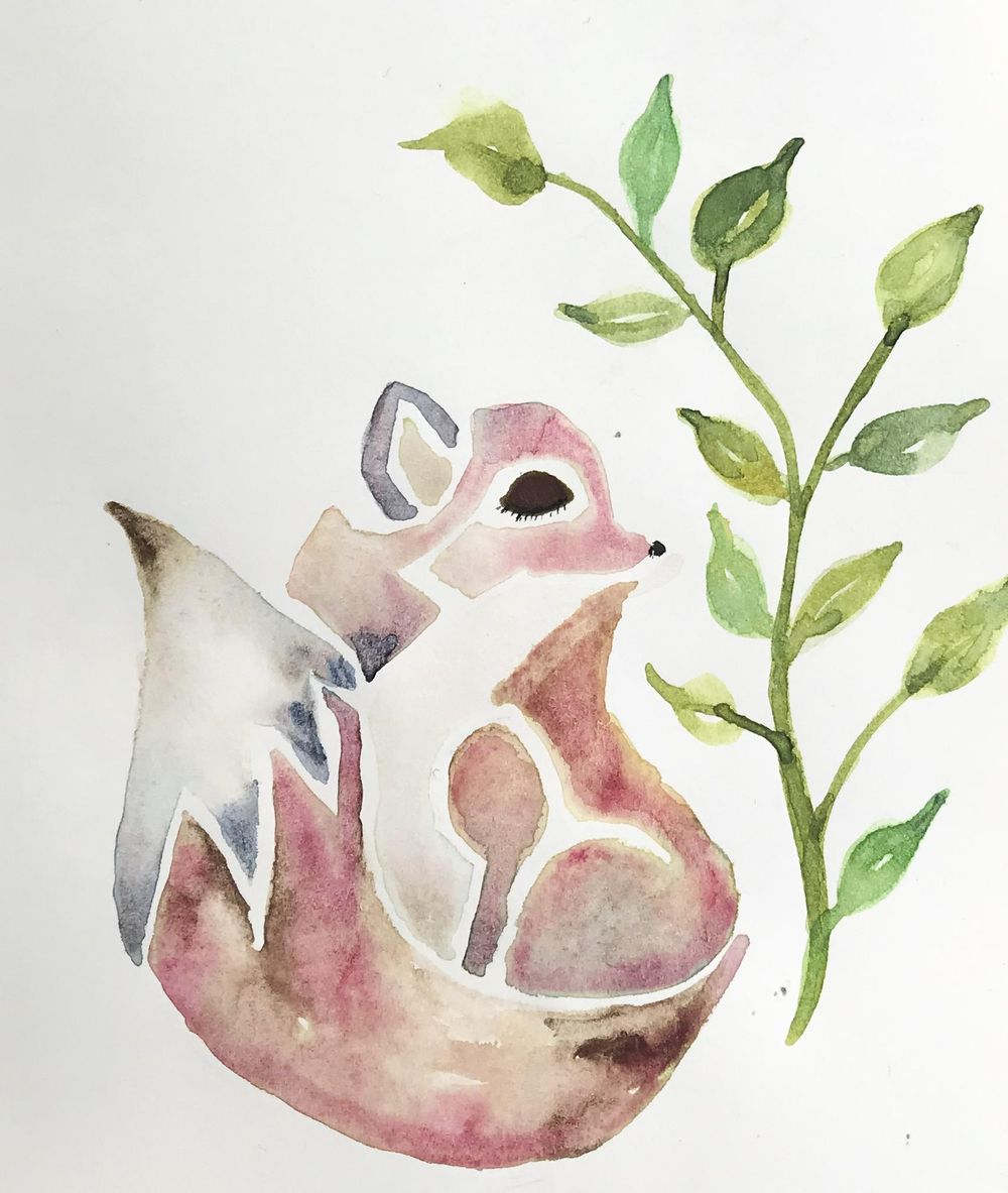 Modern watercolor- Seahorse - image 1 - student project