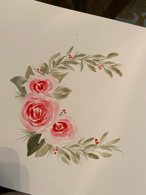 Roses Wreath - image 1 - student project