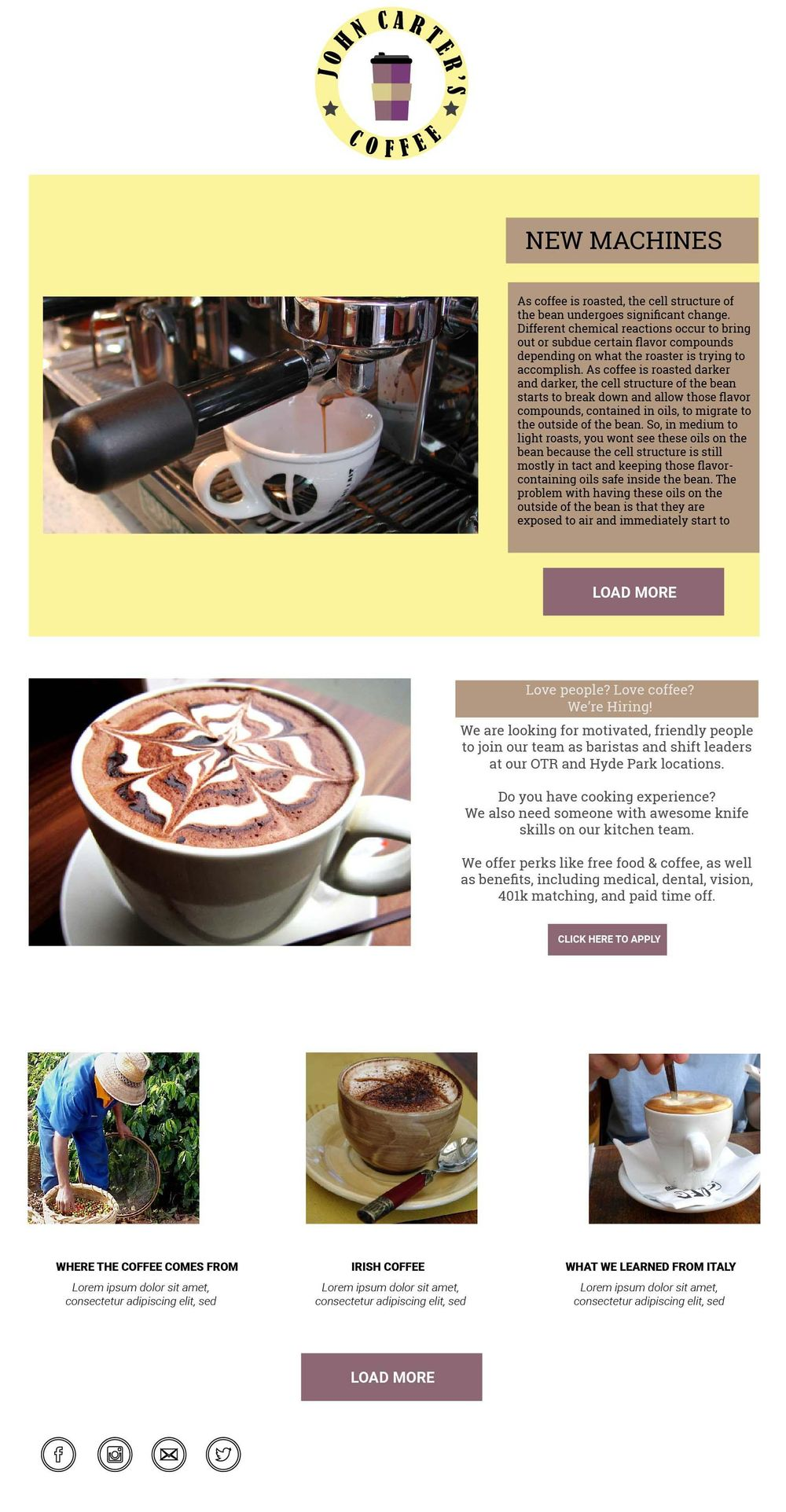John Carter's Coffee Shop - image 2 - student project