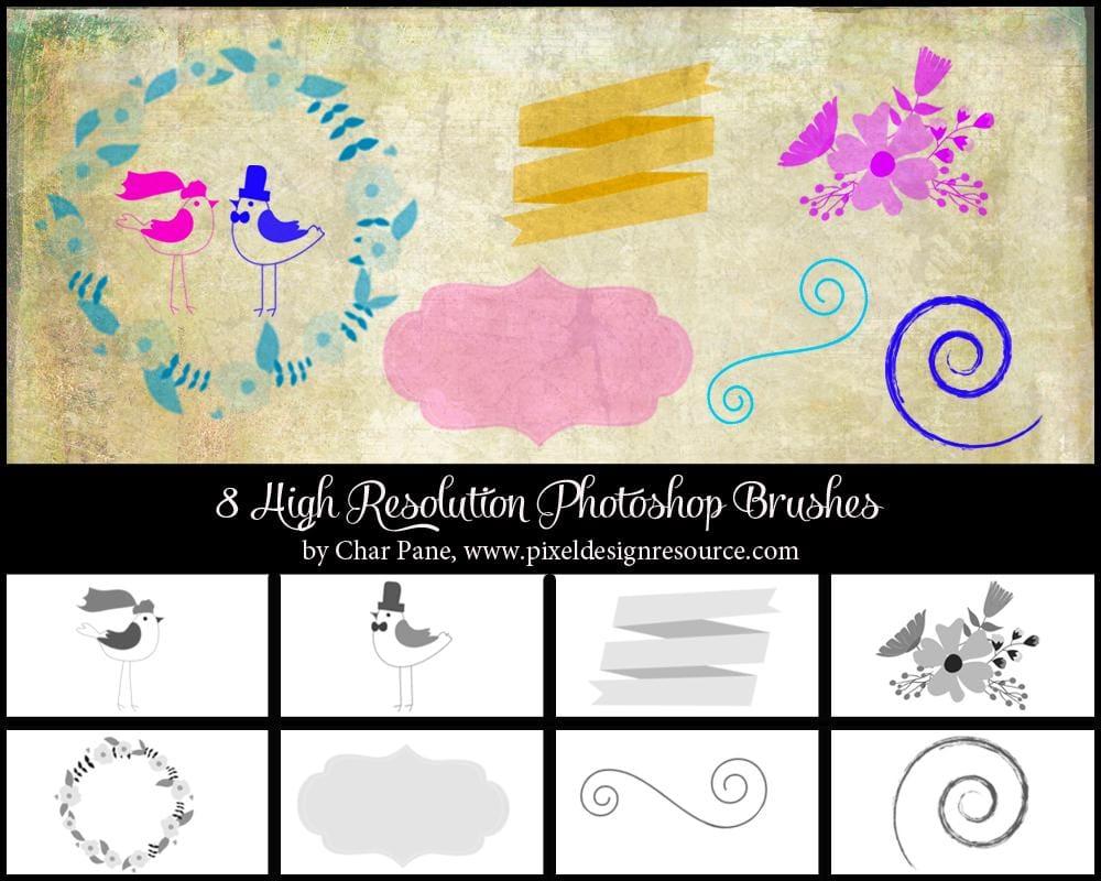 Whimsical Wedding Brush Set - image 1 - student project