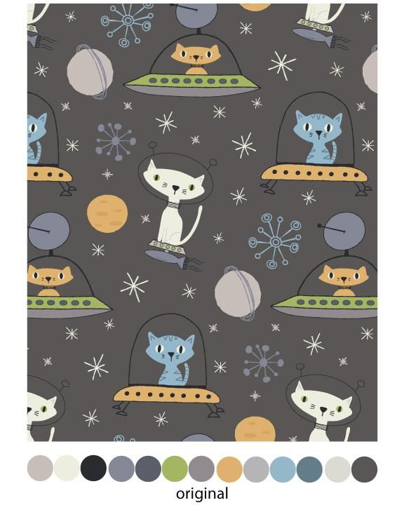 Astro Cats Pattern - image 1 - student project