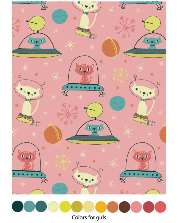 Astro Cats Pattern - image 2 - student project