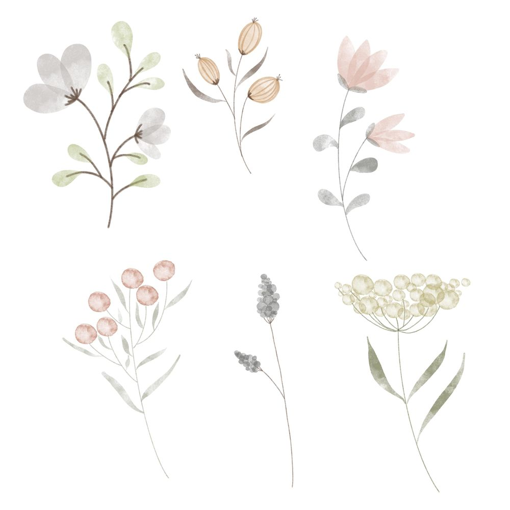 Flower Doodles in Watercolor - image 1 - student project