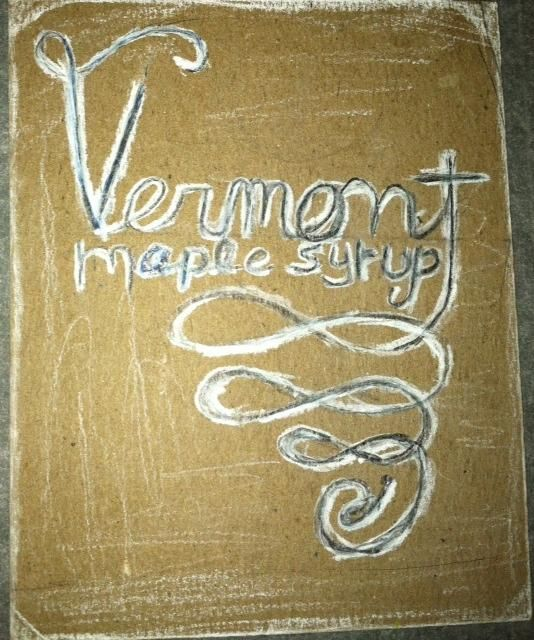 Vermont Maple syrup Label - image 1 - student project
