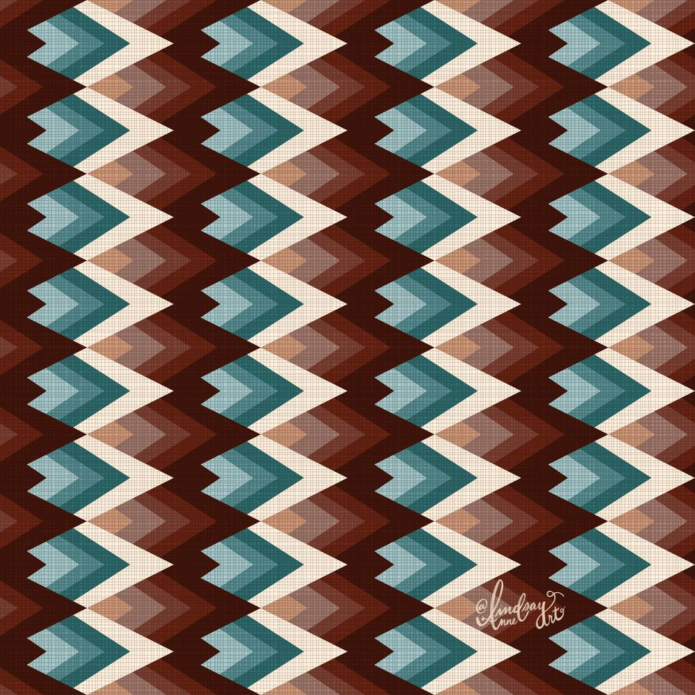 Mountain pattern - image 1 - student project