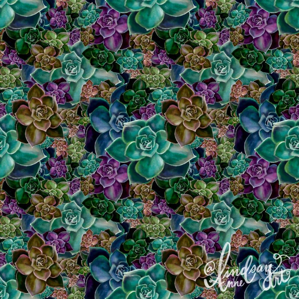 Succulent pattern - image 1 - student project