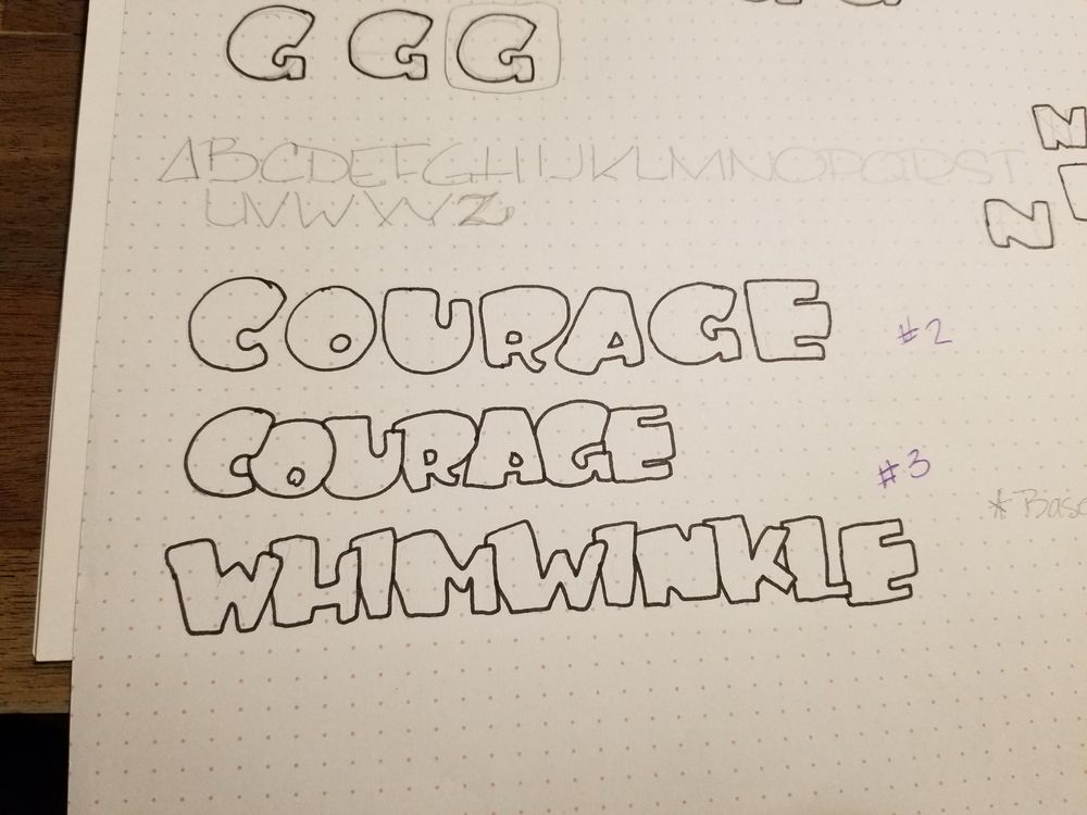 My Word: Courage - image 2 - student project