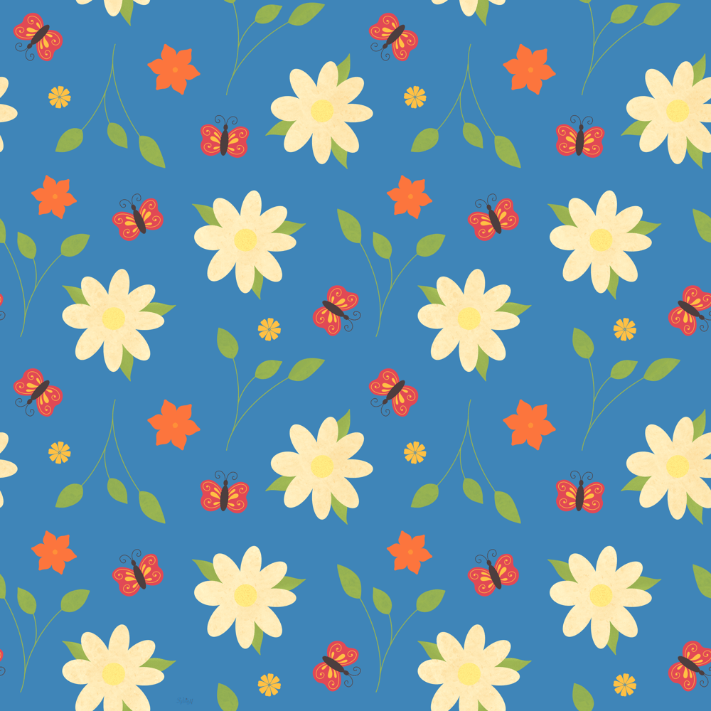 Flora and Fauna pattern - image 1 - student project