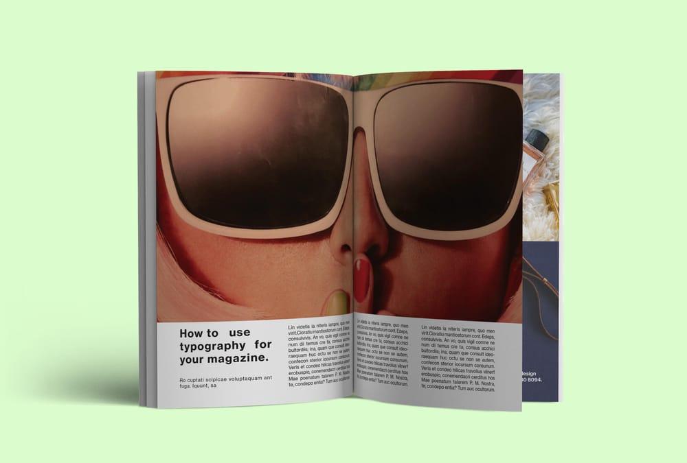 Fashion magazine layout mockup - image 1 - student project