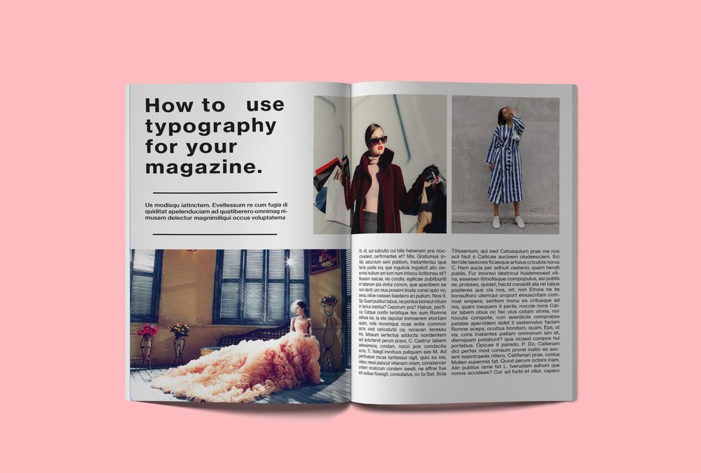 Fashion magazine layout mockup - image 2 - student project