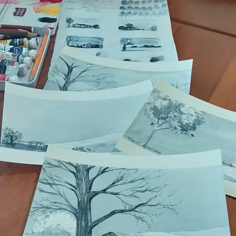 Indigo Postcard Close up - image 2 - student project