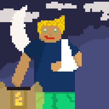 My first pixel art (or any art) character (croped) - image 1 - student project